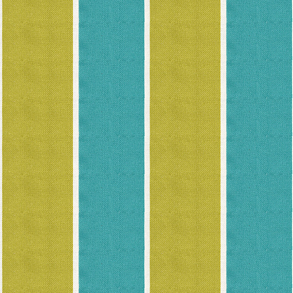 Cool Lime Green Rug: Aqua And Lime Awning Stripe Outdoor Fabric