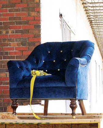 """Morton"" Tufted Chair traditional-armchairs-and-accent-chairs"
