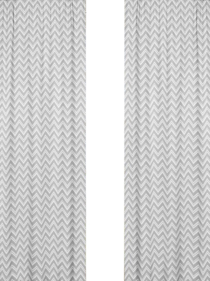 Zigzag Yellow and Gray Chevron Window Panels by Sweet Jojo Designs, Set of 2 contemporary-curtains