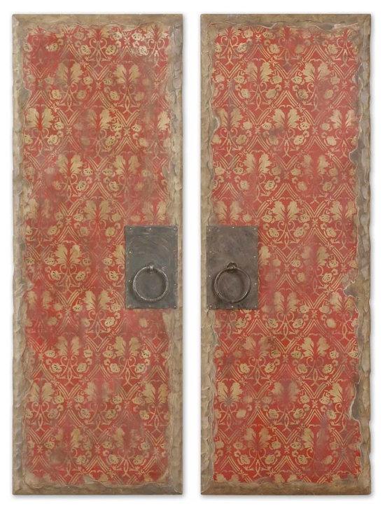 Uttermost - Set of 2 Oil Reproduction Door Panel Art Pieces - Set of 2 Oil Reproduction Door Panel Art Pieces