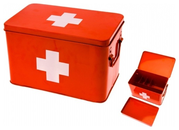 Red Cross Medicine Storage Box modern storage boxes
