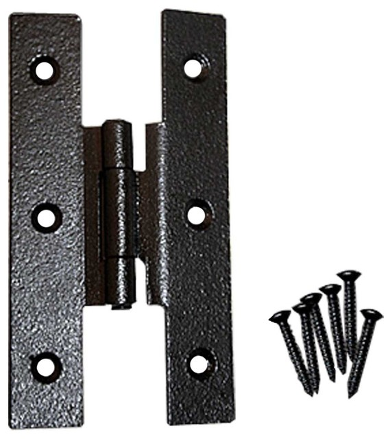 Cabinet Hinges Black Wrought Iron H Hinge 3 1/2'' H 3/8 Offset - Modern - Hinges - by The ...