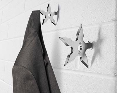 Ninja Star Coat Hook eclectic-hooks-and-hangers