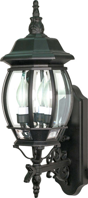 """Nuvo Lighting 60-890 Central Park 3-Light 22"""" Wall Lantern transitional-outdoor-wall-lights-and-sconces"""