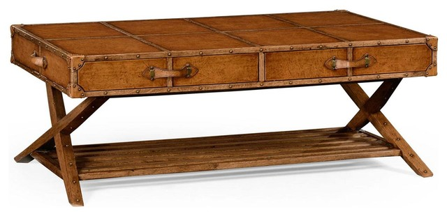 New Jonathan Charles Coffee Table Travel traditional-coffee-tables
