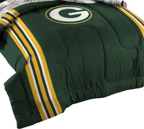 Nfl Green Bay Packers Football Twin Full Bed Comforter Set Contemporary Kids Bedding By