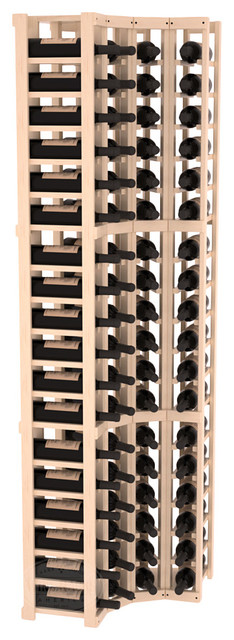 3 Column Wine Cellar Corner Kit in Pine, Satin Finish contemporary-wine-racks