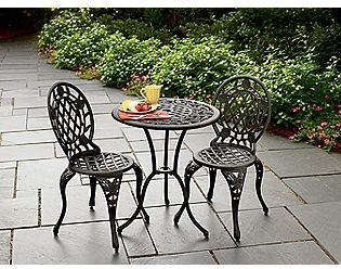 cast iron and aluminum bistro set traditional outdoor