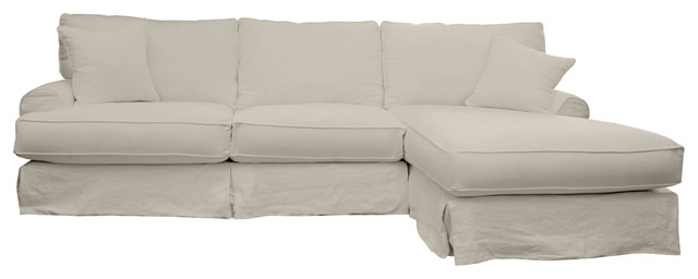 Haberdash Slipcover Sectional Right 120 Quot Sofa Sand Linen