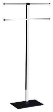 Modern Floor Standing Steel Towel Rack by Gedy modern-towel-racks-and-stands