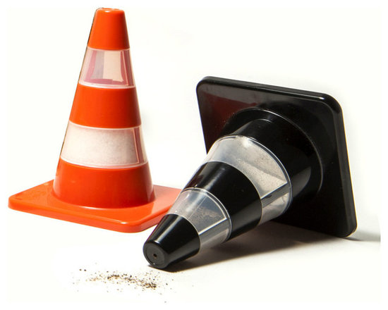 Traffic Cone Salt and Pepper Shakers -