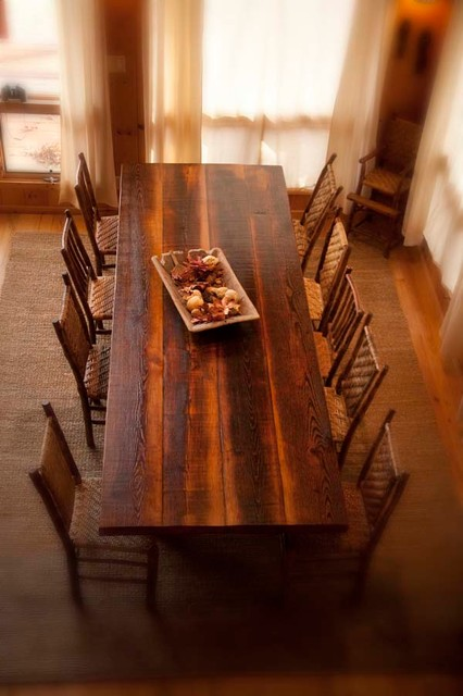 Antique Reclaimed Heart Pine Dining Table Rustic