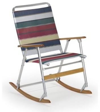 ... Telaweave Folding Rocker - Silver Aluminum Frame modern-rocking-chairs