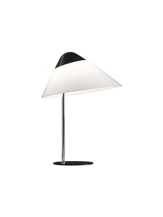 Pandul Opala B01 Lamp Black Top and Base, by Carl Hansen