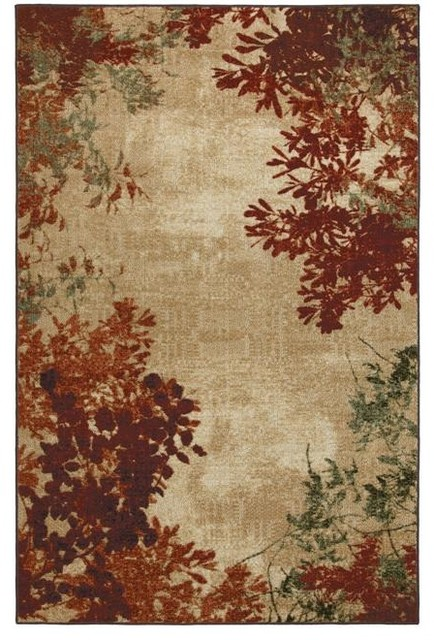 Valence Ivory Floral Rug (8' x 10') contemporary-rugs