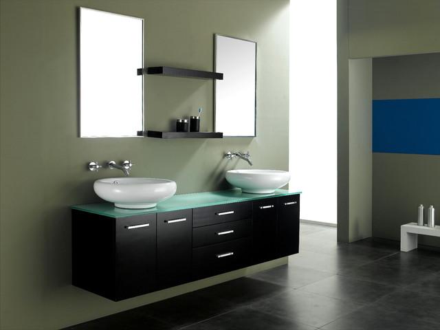 """72"""" Millenium Double Vessel Sink Vanity modern-bathroom-vanities-and-sink-consoles"""