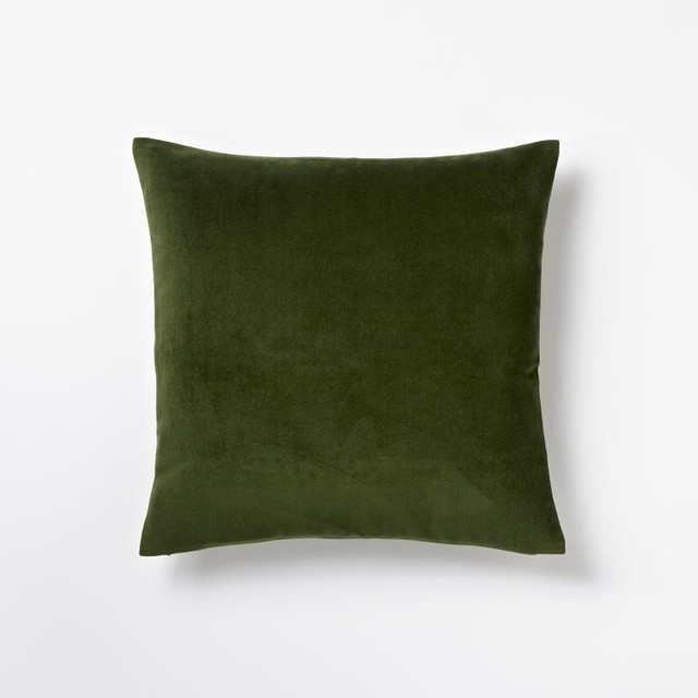 Velveteen Pillow Cover, Moss traditional-decorative-pillows