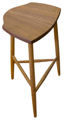 Walnut White Oak Stool 23 Quot Farmhouse Bar Stools And