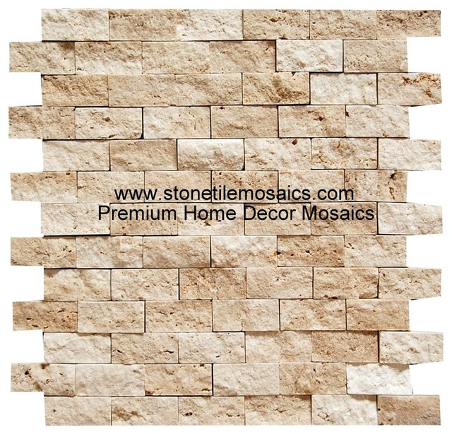 1 x 2 cream color natural stone home decor mosaic