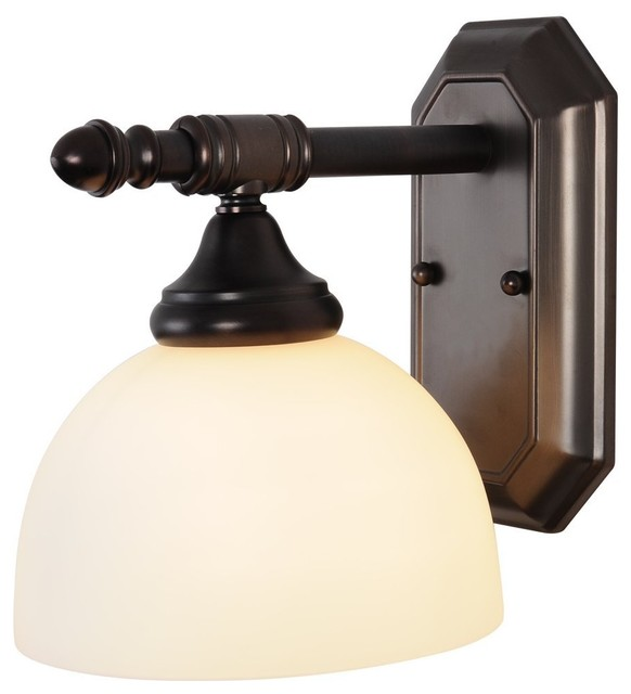 One Light 5.5 inch Vanity Fixture - Oil Rubbed Bronze modern-bathroom-vanity-lighting