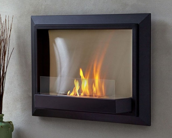 """Real Flame Black Envision Wall Ventless Fireplace - Dimension: 30.1"""" L x 24.3"""" H x 7.3"""" W"""