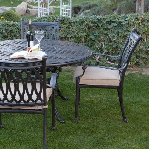 patio dining set palazetto milan collection cast aluminum