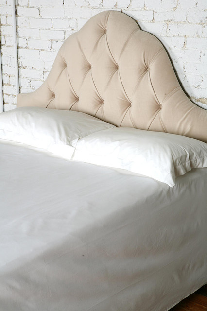 Velvet Tufted Headboard eclectic headboards