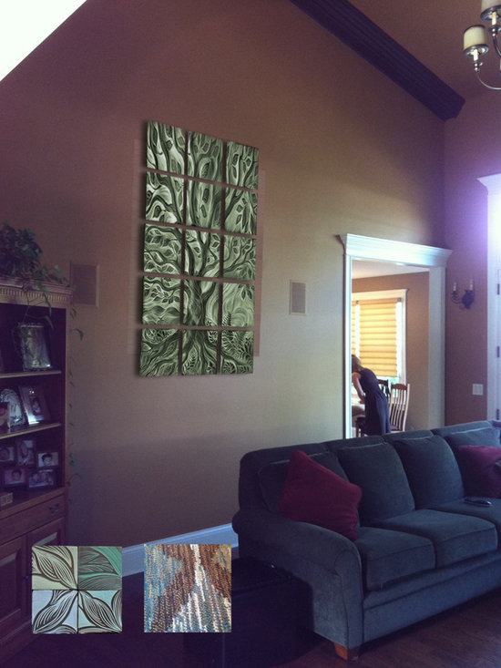 Residential Wall Art Mural: handmade ceramic tile -