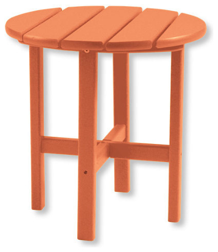 All-Weather Round Side Table traditional-outdoor-side-tables