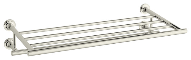KOHLER K-14381-SN Purist Hotelier in Vibrant Polished Nickel contemporary-towel-bars-and-hooks
