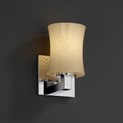 Justice Design Group Fusion FSN-8821-60-WEVE-CROM Modular 1-Uplight Wall Sconce modern-wall-lighting