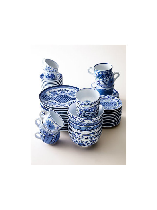 Traditional Blue & White Dinnerware - When I think of classic blue and white patterns, my first thought is dinnerware. It's a timeless look.