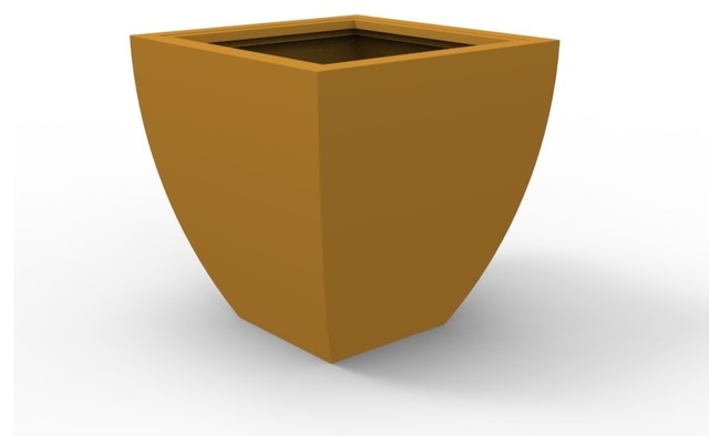 Large Monaco Planter, Spanish Gold contemporary-outdoor-pots-and-planters