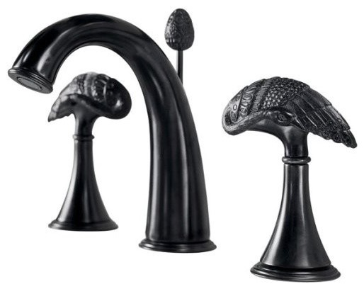 Black Faucets For Bathroom : ... Faucet in Black Iron - Traditional - Bathroom Faucets And Showerheads