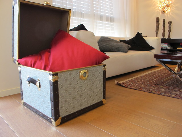 Steamer trunk -  Side Table contemporary-storage-and-organization
