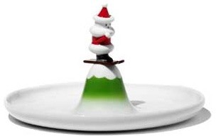 Alessi Scia Natalino Pastry Plate modern-holiday-decorations