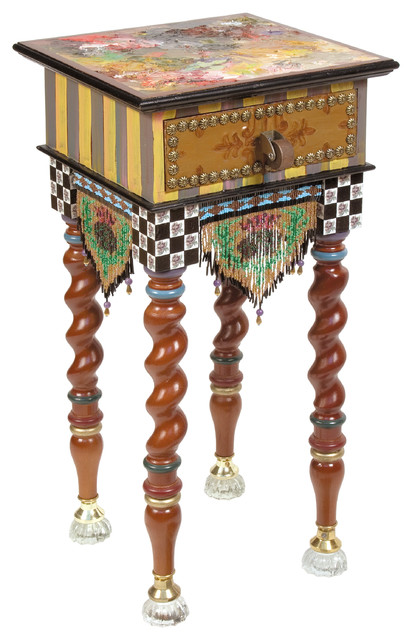 Teeny Table   MacKenzie-Childs eclectic-side-tables-and-end-tables
