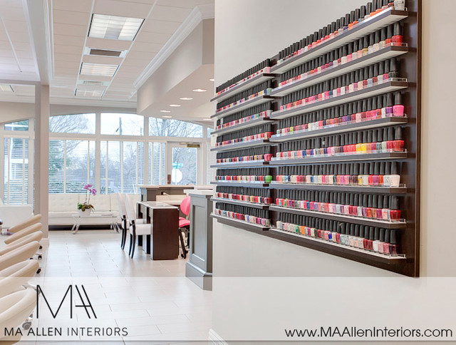 contemporary nail salon interior design ma allen interiors interior designers decorators - Nail Salon Interior Design Ideas