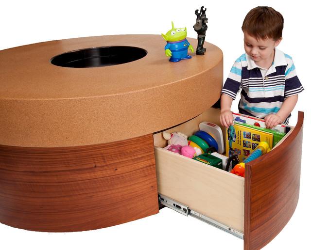 Kid Friendly Custom Cork And Wood Veneer Coffee Table Contemporary Coffee Tables Phoenix