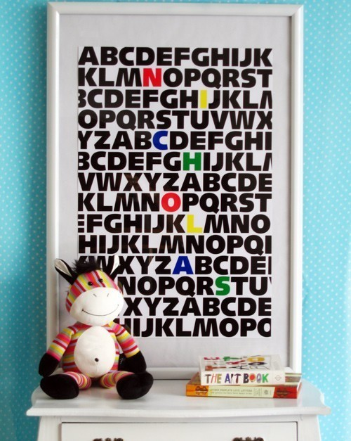 ABC Kids Custom Name Print Primary Colors by jenniferramos on Etsy novelty-signs