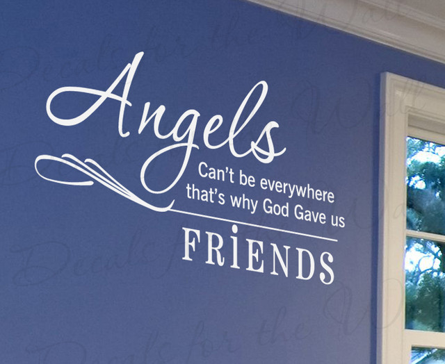Friends Quotes Joey Why God Why : Wall sticker decal quote vinyl angels can t be everywhere friends friendship fr modern
