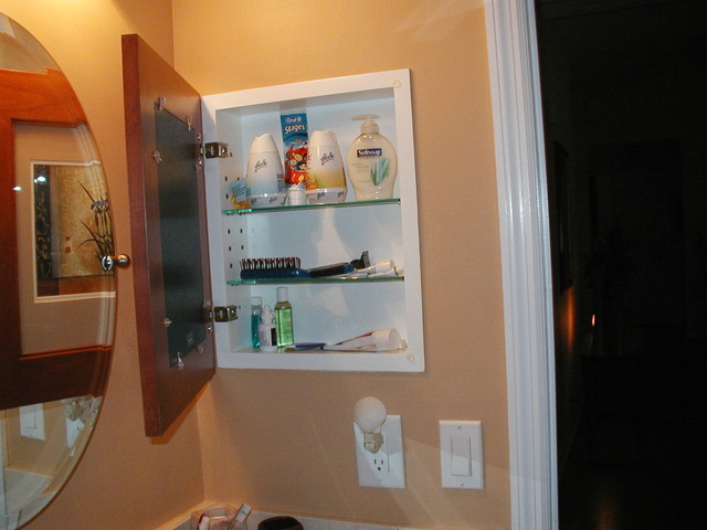 Recessed Picture Frame Medicine Cabinets with No Mirrors bathroom-storage