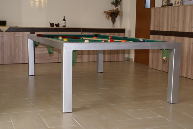 BILLARD TABLE WITH TOP for fun,eat and learn contemporary-dining-tables