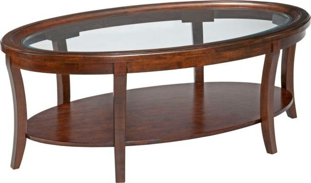 Broyhill Furniture Dorchester Oval Cocktail Table And End Table Set 3713 001 Traditional