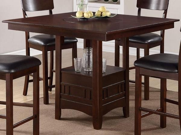Poundex furniture 5 piece counter height dining table for Dining room high chairs