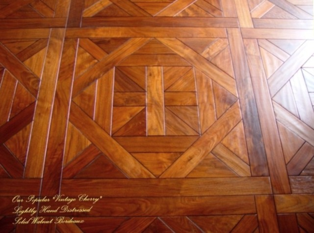 Bordeaux Parquet Pattern Traditional Hardwood Flooring