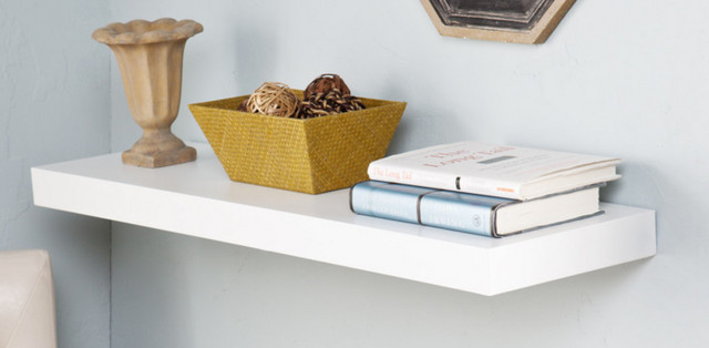 "Holly & Martin Cadence Floating Shelf, 36"", White contemporary-display-and-wall-shelves"