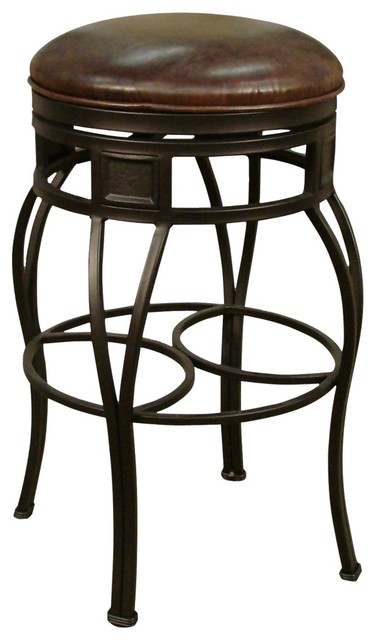 traditional american heritage capri bourbon 30 high backless bar stool traditional bar. Black Bedroom Furniture Sets. Home Design Ideas