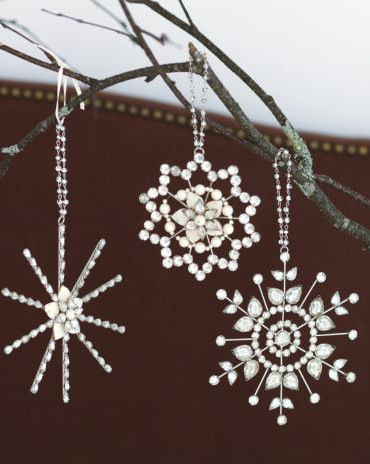 Beaded Star Ornaments modern holiday decorations