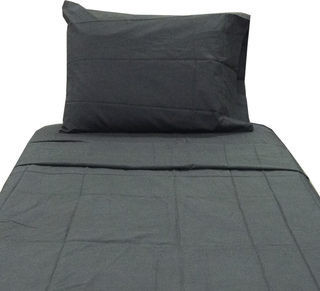 Dark gray twin xl sheet set extra long charcoal bedding